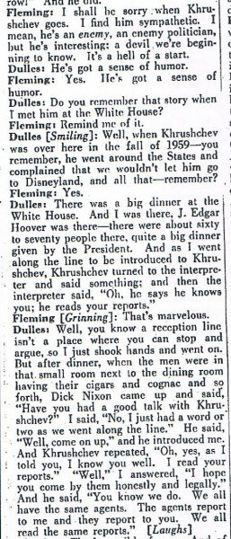Dulles-Kruschev story