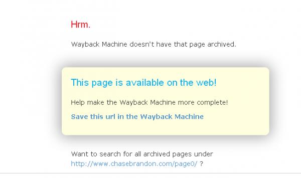 WaybackMachine-ChaseBrandon-SecretPagesNotArchived